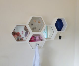 Hexagon Shelves With Magnetic Accessories