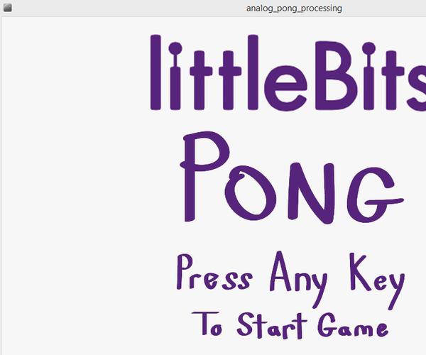 Littlebits Pong