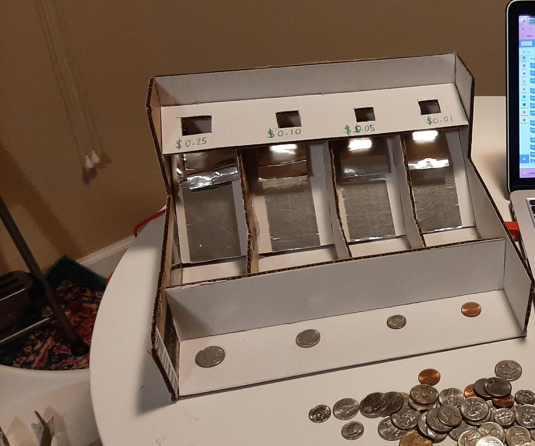 Coin Counter Using Makey-Makey and Scratch