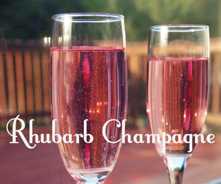 Rhubarb Champagne