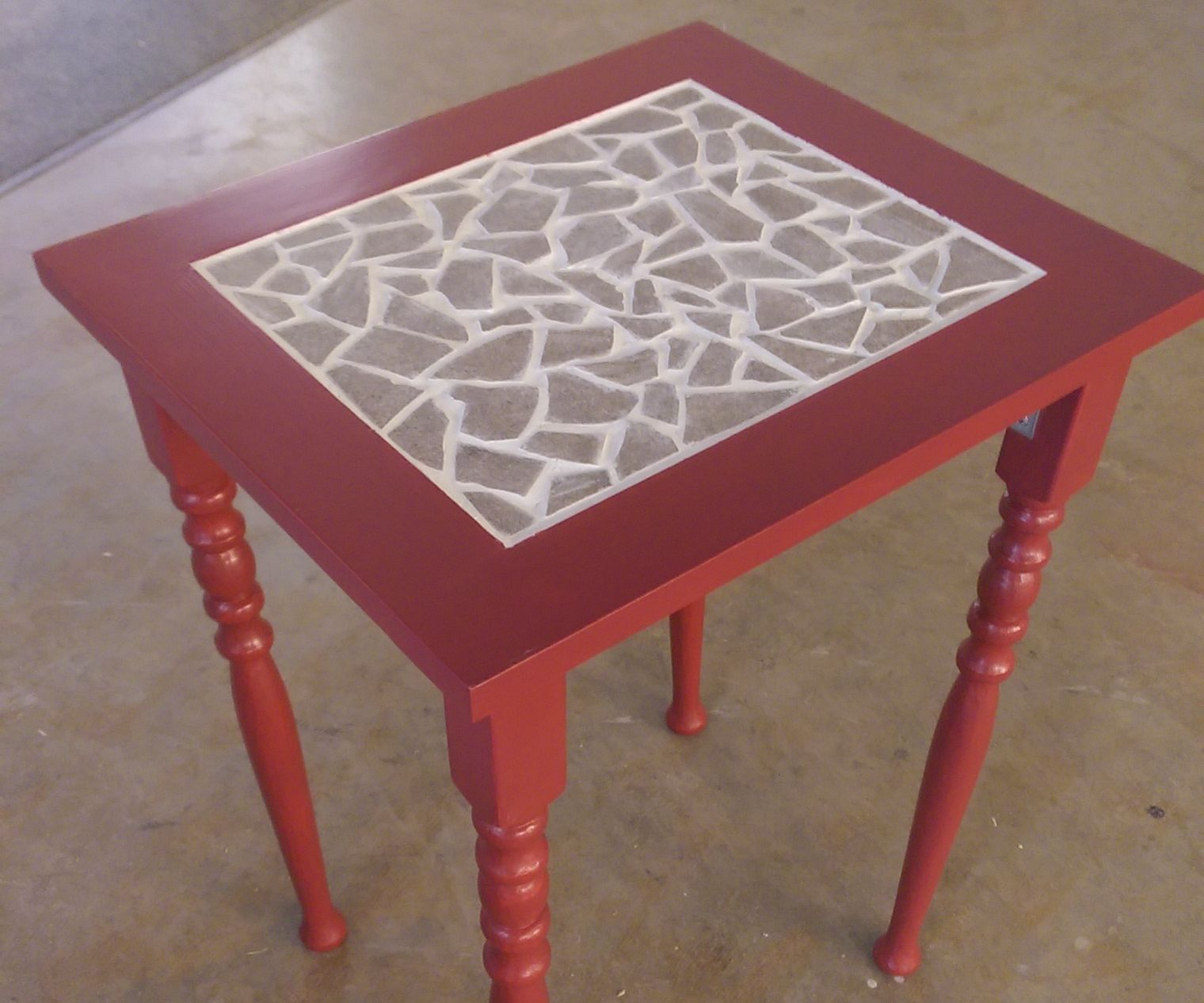 Mosaic Table (Made from upcycled materials)
