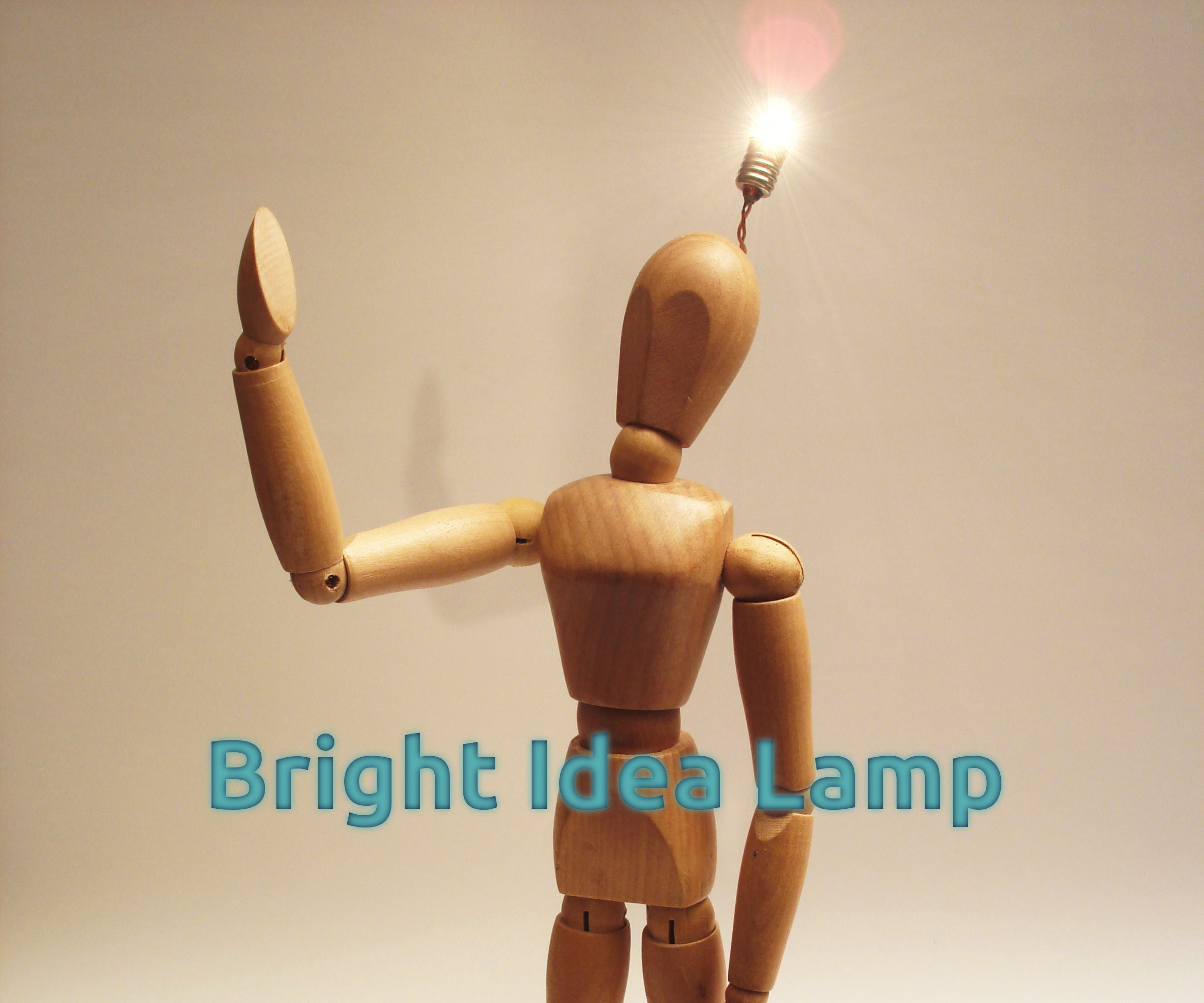 Bright Idea Lamp Man
