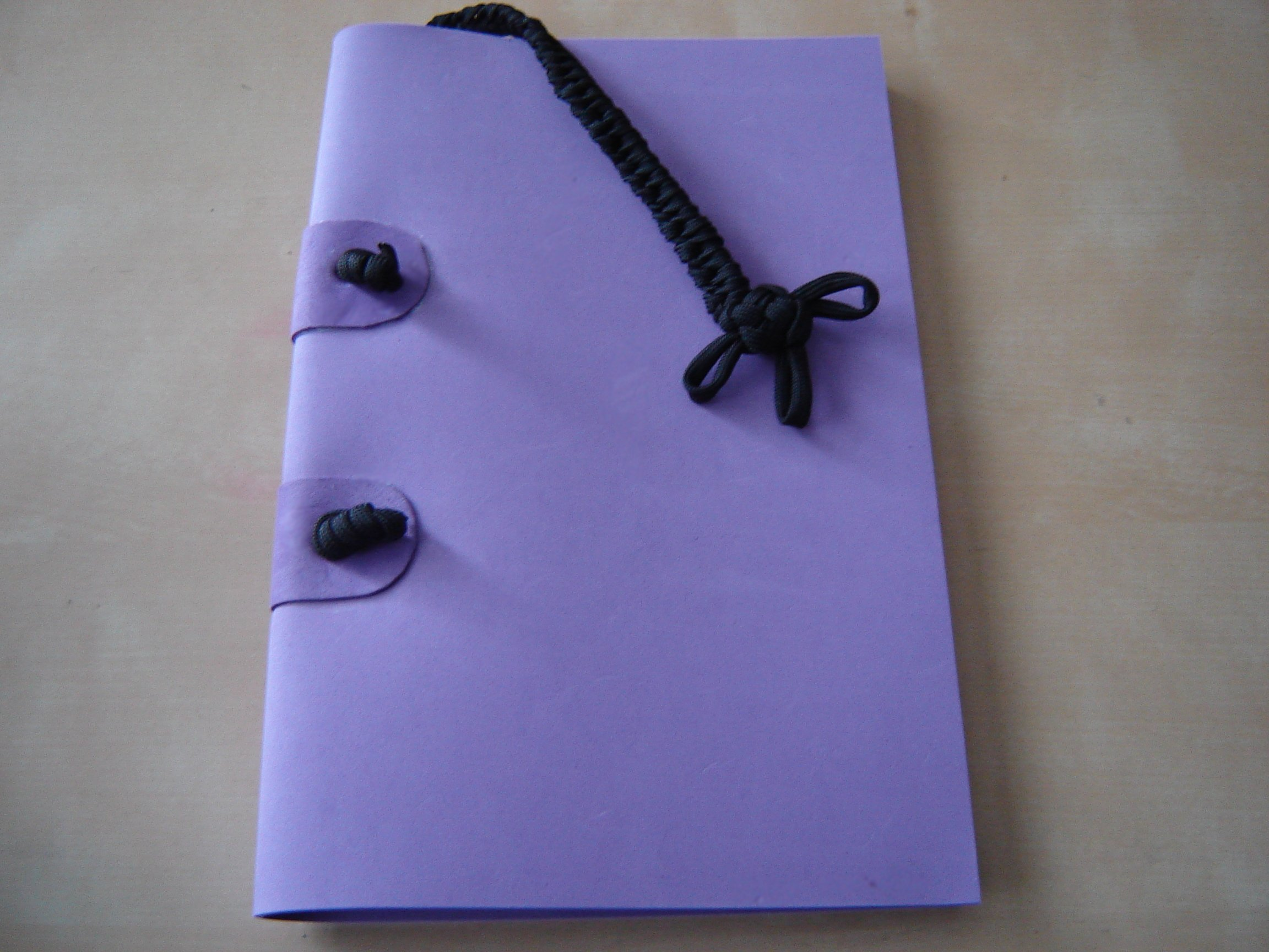Craft Foam and Paracord bound book