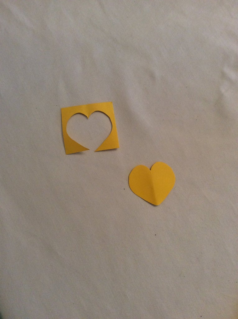 Step 1: Trace and Cut Out the Heart on the Cardstock