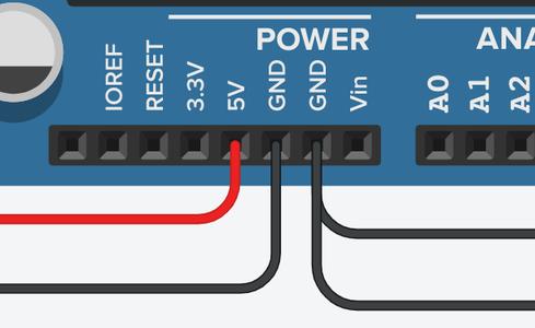 Connect GND & 5V