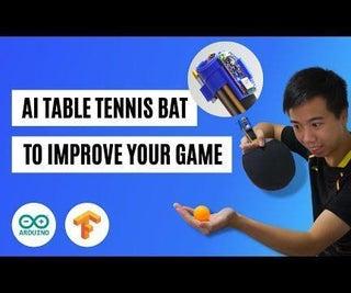 Table Tennis Bat With Machine Learning AI (Arduino Nano 33 BLE Sense + TensorFlow Micro)
