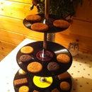 Vinyl Record Cupcake Stand