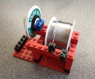 Lego Solder Spool + Wick Holder