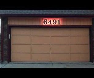 Backlit Smart House Numbers