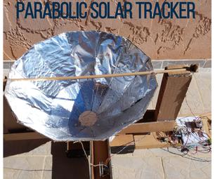Parabolic Solar Tracker in Carton (DIY Arduino)