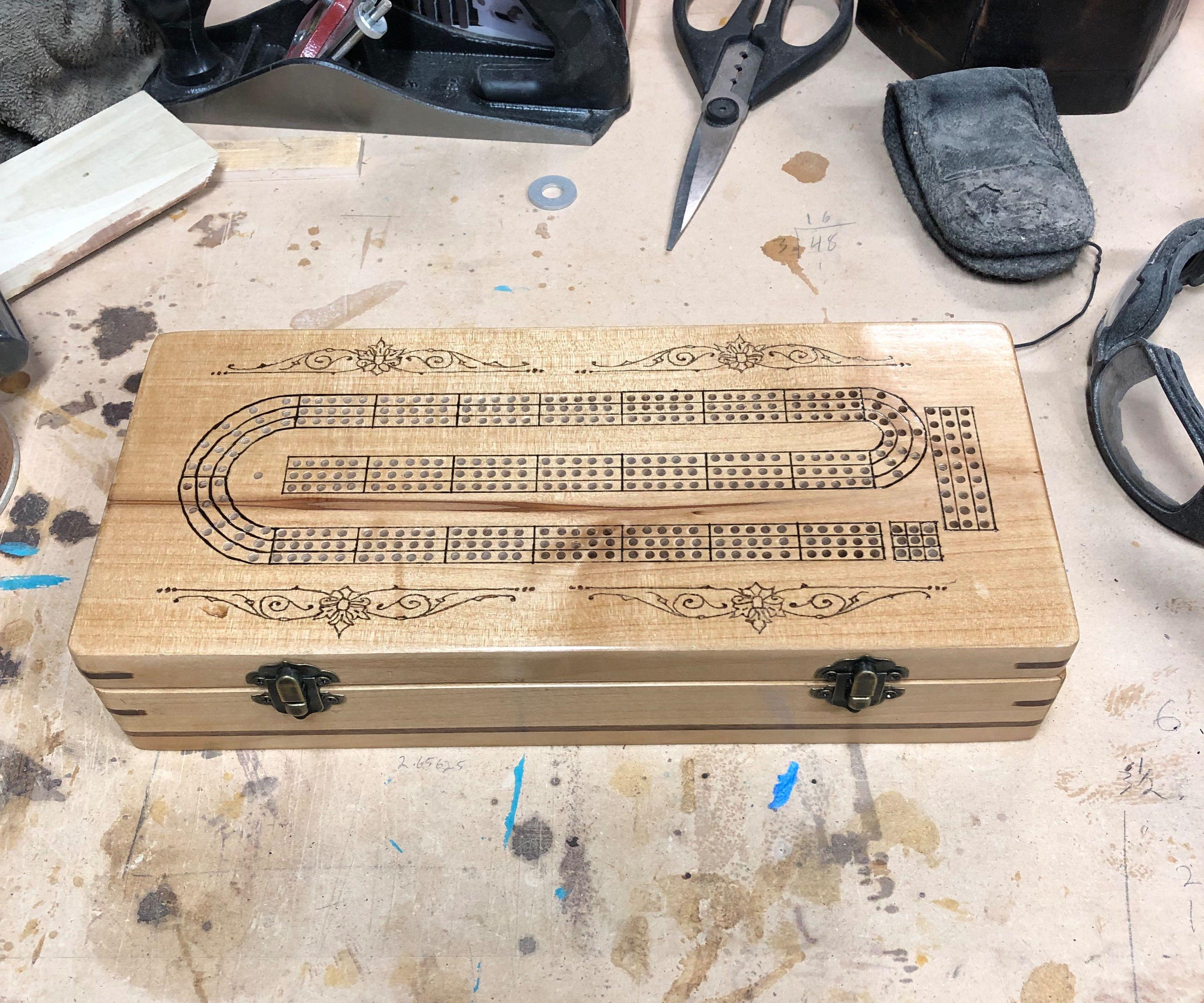 Domino Box With Scoring Track
