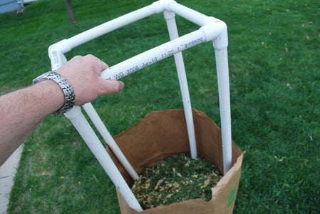 How to Make a Yard Refuse Bag Stand