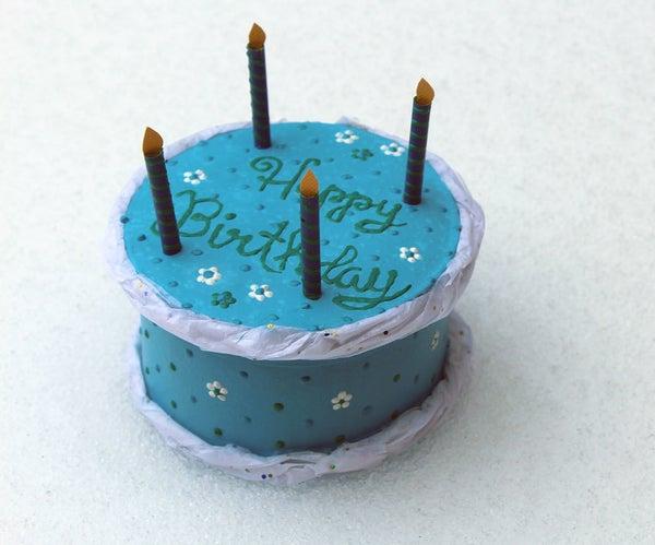 Mini Birthday Cake Gift Box