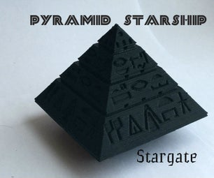 Stargate Pyramid Starship. 3d Printing.