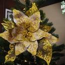 如何做一个纸圣诞花!