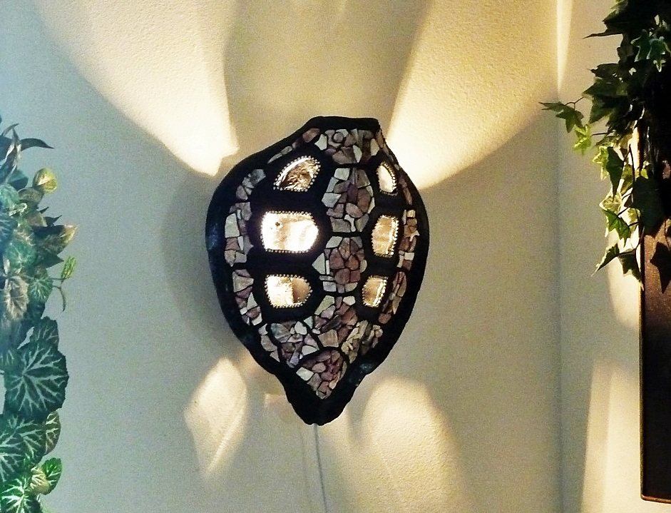 Turtle Shell Mosaic Sconce