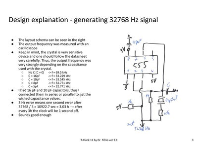 Design Explanation - 32.768Hz Signal