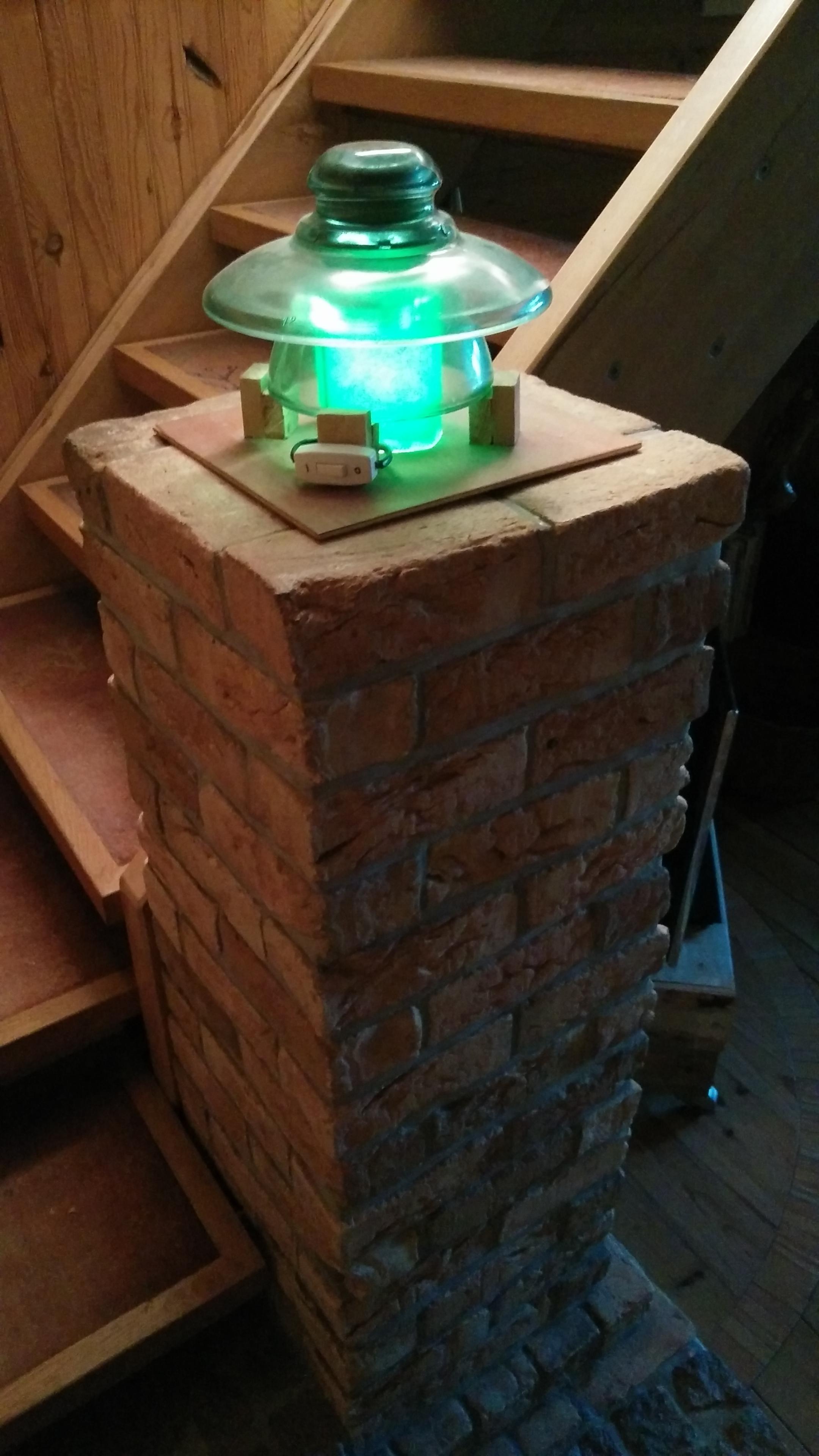 Glass Insulator Lamp