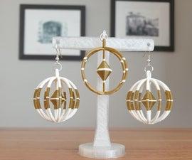 3D印刷耳环和吊坠套装(在Tinkercad设计)