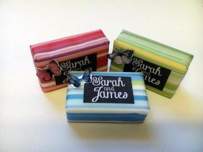 Vellum Wrapped Soap Wedding Favors