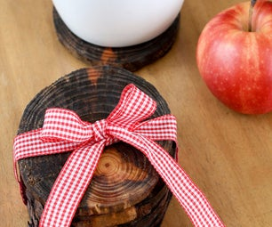 Make Tree Limb Coasters