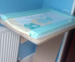 Fold Down Baby Changing Table From Swedish Space Saving Table