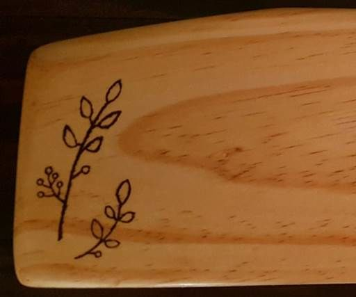Cheese board - with easy wood burning