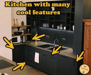 厨房有许多酷炫的功能