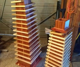 Simple Wooden Marbel Towers