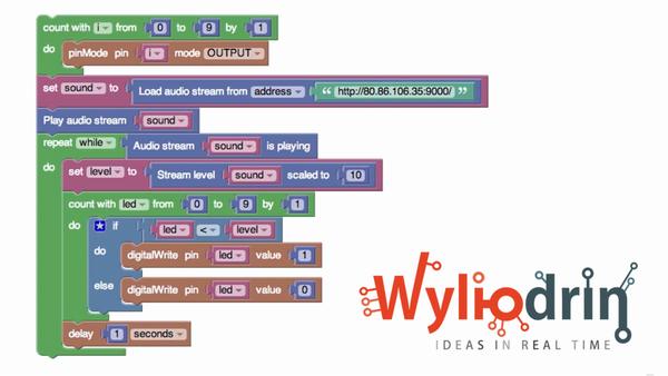 Create a VU Meter and Disco Led Using Raspberry Pi Visual Programming