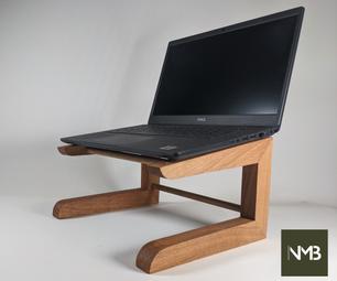 DIY木制笔记本电脑支架
