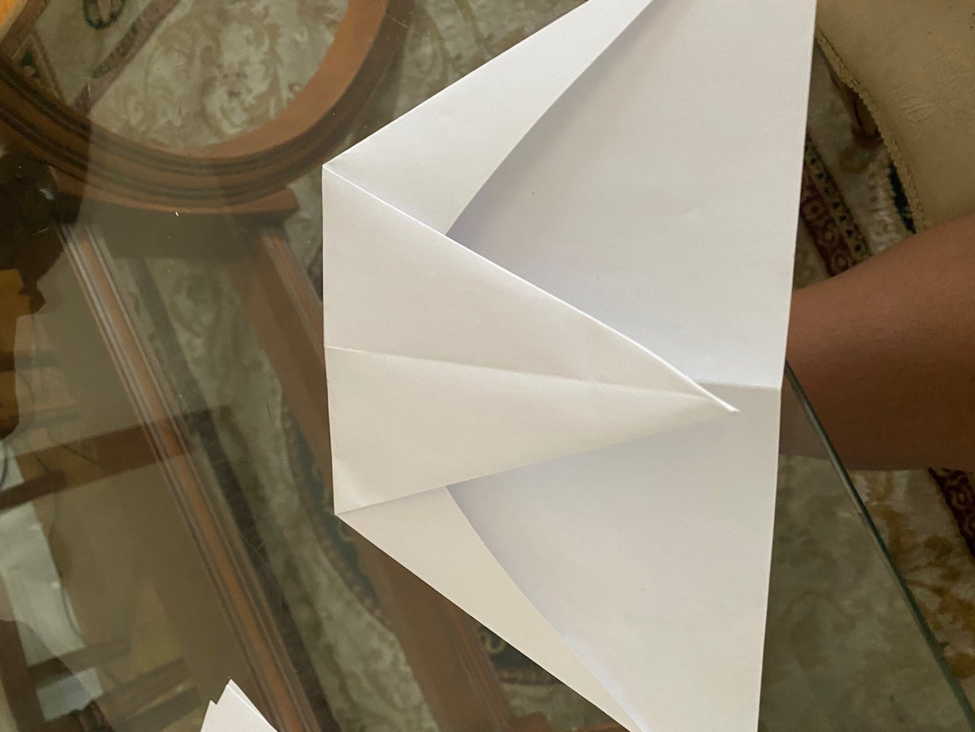 Step 6: Fold the Top Like This