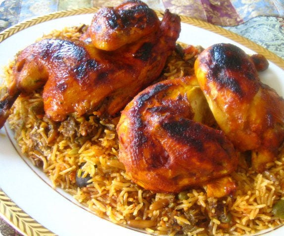 Chicken Kabsa (with Tahini)