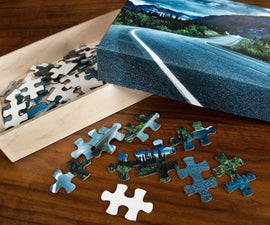 Laser Cut Puzzle and Cardboard Box