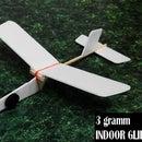 """Ultra Light"", (3 Gramm) Indoor Glider for Beginners"
