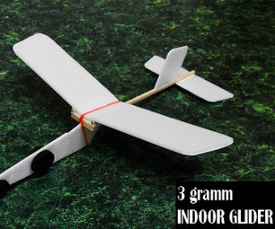 """Ultra Light"", (3 Gramm) Indoor Glider for Beginners"