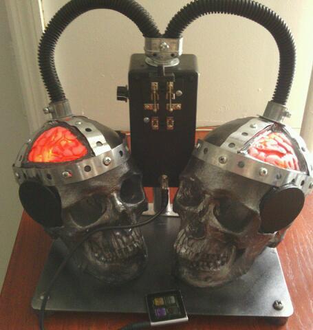 Double Electrocution Skull Speakers