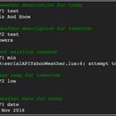 NodeMCU (ESP8266) As Provider of Yahoo Weather