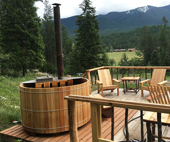 DIY Wood Fired Cedar Hot Tub