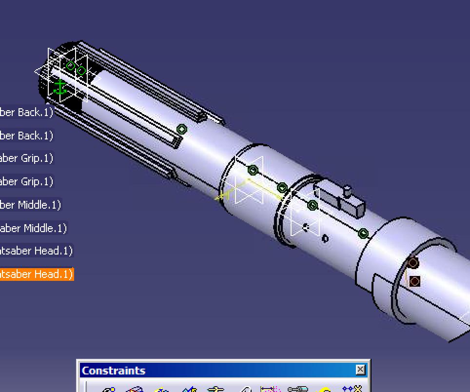 CATIA V5 Lightsaber Model Part 1