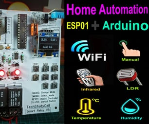 Home Automation Using Arduino and WiFi Module ESP01 | Arduino ESP8266 Control Relay