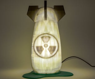 Glow-In-The-Dark Nuclear Bomb Night Light.