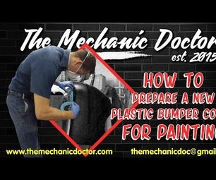 How to Prepare a New Plastic Bumper Cover for Painting