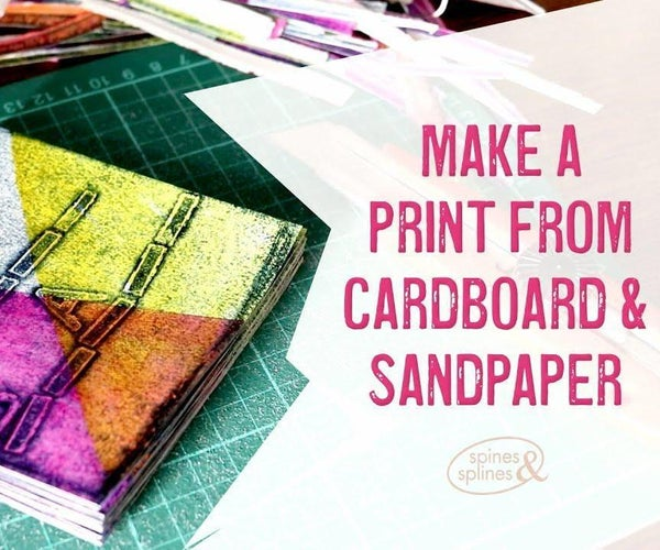 Sandpaper and Cardboard Collagraph Print