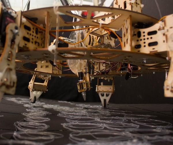 Geoweaver: a Walking 3D Printer Hexapod