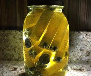 Mason Jar Shotgun Shell Nightlight