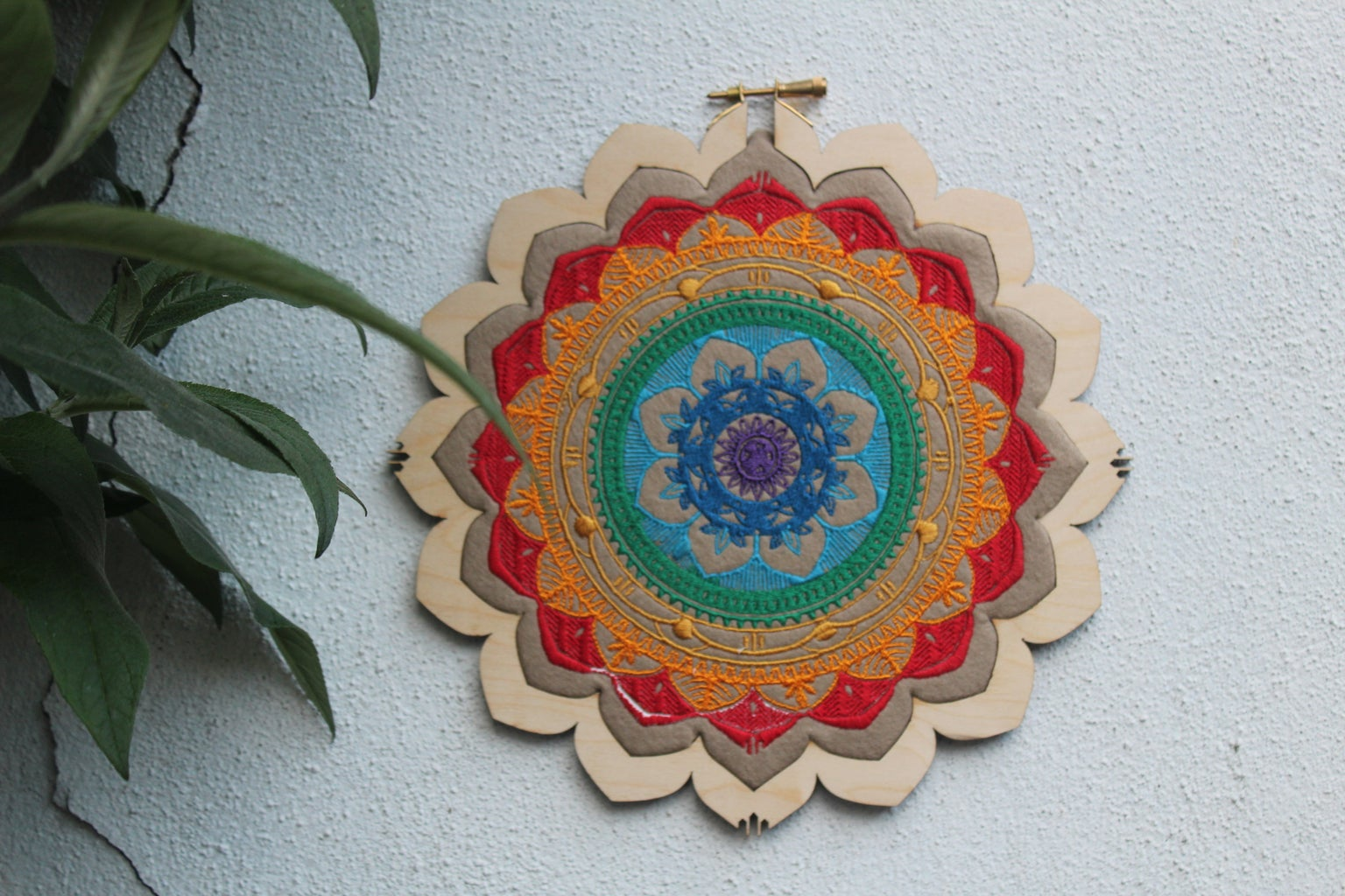 Rainbow Mandala Embroidery