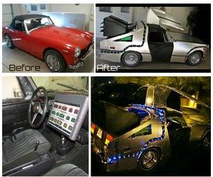 DeLorean Costume for Your Car! LED Magic!