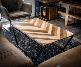 The Solid Wood Herringbone Pattern Table V2.0