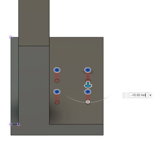 Design Process - Moving Load Cell Mount - Linear Rail Mounting Holes